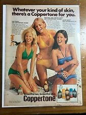 1976 ~ Vintage Print Ad ~ Coppertone ~ Whatever your kind of skin