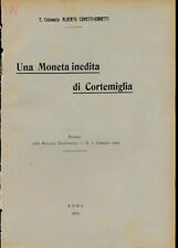 HN Cunietti A. Una moneta inedita di Cortemiglia 1909 RARO