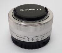 Silver Panasonic Lumix G Vario 12-32mm f/3.5-5.6 ASPH O.I.S ED Lens H-FS12032