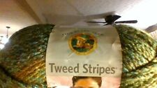 New listing Lion Brand Yarn Tweed Stripes #216 Ozark Forest Bulky 100% Acrylic 3 Oz