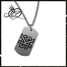 Kennesaw State Owls Satin Finish Stainless Steel Dog Tag Necklace