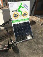 Borne solaire transportable rechargement vélos électriques 100WT solairelib