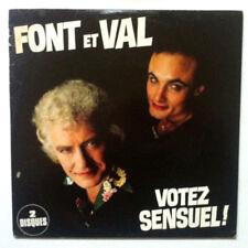 FONT et VAL Votez Sensuel ! Disque 2 LP VINYL 33 T 88269-1 France 1981