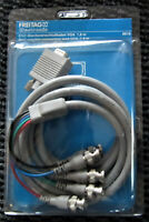 Computer-Adapter-Kabel / 15pol.HD-Stecker-5xBNC-Stecker / BNC-Monitorkabel 1,8m