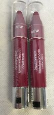 2 Neutrogena Moisture Smooth Color Stick Lipstick #150 Cherry Pink SEALED New