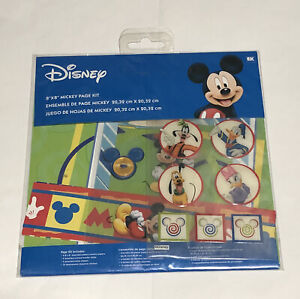 """Disney Mickey Mouse and Friends 8""""x8"""" page kit - stickers paper"""