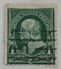 United States 1 Cent Used Postage Stamp - Benjamin Franklin