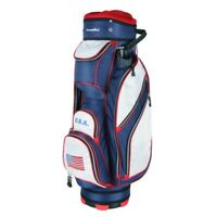 NEW PowerBilt Golf USA Flag 5400 Cart Bag 14-way Top Red / White / Blue