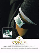 PUBLICITE ADVERTISING 114  1997  CORUM collection montre  TABOGAN
