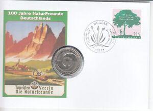 Numisbrief   Deutschland  5 DM   100 Jahre Naturfreunde   2005