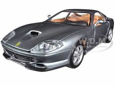 FERRARI 550 MARANELLO GREY 1/24 DIECAST MODEL CAR BY BBURAGO 26004