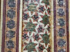 """Micro Mosaic Inlaid Tile Rectangular Frame Vintage Indian Islamic 12""""x15"""""""
