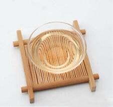 Cup Mat 1Pc Bamboo Wood Pad Tea Trays 7cm*7cm Creative Chinese Wood Jing Concave