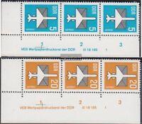 DDR 2831DV-2832DV mit Druckvermerk (kompl.Ausg.) gestempelt 1983 Flugpostmarken