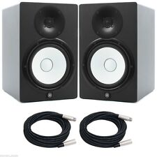"YAMAHA HS8 POWERED STUDIO MONITOR >>PAIR<<, 8"", 2-Way, 120W - Free XLR Cable x 2"