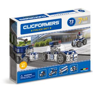Genuine Clicformers Police 72 Set pcs set - 3D Building Construction Toys