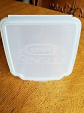 NOS Vintage Original Kraft Singles Cheese Container / For Cheese Slices 1991