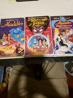 Disneys Aladdin 3 Movie Set with return of jafar and prince of thieves clamshell