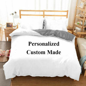 Xmas Holiday Wedding Gift Personalized Customized Bedding Quilt Duvet Cover Set