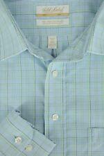 Roundtree & Yorke Hombre & Verde Geométrico Camisa de Vestir 18.5 X 36/37 Grande