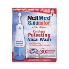 NeilMed Sinugator Cordless Pulsating Nasal Wash with 30 Premixed Sachets