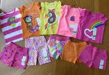 Big LOT NEW 12 month Girl Summer clothes $120 MSRP shorts tops Orange Pink NWT