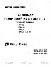 Bell & Howell 1585, 1590 & 1592 Filmosound 16mm Service and Parts Manual