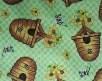 Quilting Treasures What's the Buzz 76454 H - Hives on Teal BTY Cotton Fabric