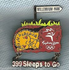 #P22.  SYDNEY 2000 OLYMPIC COUNTDOWN PIN - 399  SLEEPS  TO GO