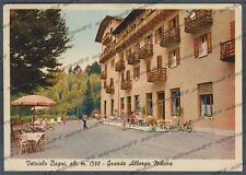 TRENTO LEVICO TERME 35 VETRIOLO BAGNI - HOTEL ALBERGO Cartolina viaggiata 1951