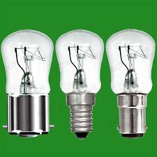 4x 25W à variation Transparent Ampoules Pygmées,BC,B22,SBC,B15d/SES,E14 Lampes