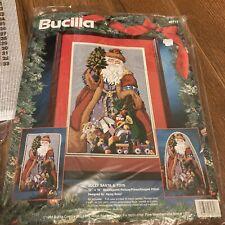 New ListingNeedlepoint Jolly Santa & Toys Bucilla (60717) 10� x 16� New Open Package