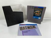 Batman: The Video Game (Nintendo Entertainment System, 1990) With Manual Clean!