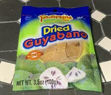 [5 Bag x 3.5oz] Philippine Dried Guyabano Soursop Fruit Snack Glutten Free Halal