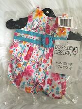 NWT Doggie Design Dog Pet Animal Clothes Pink Turquoise dress Size S Small