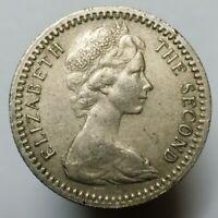 British Rhodesia 5 cents 1964 high grade coin Queen Elizabeth II