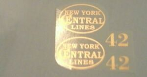 LIONEL PRE-WAR STANDARD SCALE 42 GOLD METALLIC WATERSLIDE DECAL LOCO ENGINE SET!