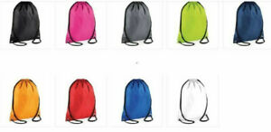 Gym Bag Drawstring backpack Mens Woman Waterproof Sports Sack Swim Kit Shoe BAG