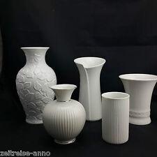 Porzellan Vasen Sammlung weiß OP Art Arzberg AK Kaiser Royal KPM Metzler Orlloff
