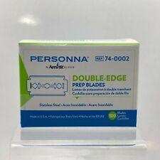 Personna Medical Prep Double Edge Razor Blades (100 Pack)