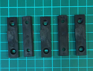 Mending Fixing Plate Brackets Straight Plastic Repair Braces 45mm 5pk inc Screws