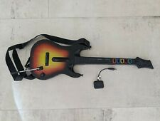 PS3 Guitar Hero wireless Sunburst Guitar with Dongle. Tested 100%