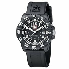 Luminox Men's 3051.L Navy Seal Colormark 3050 Series Black Silicone Black Dial