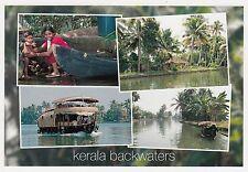 (82115) Postcard India Kerala Backwaters Boat #10 - un-posted