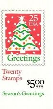 BK181 $5.00 Booklet 2516 25¢ Christmas Tree 2 Panes 0f 10 1990 MNH Free Shipping