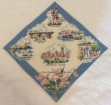 Vintage Hankie Handkerchief ~ HERMANN Minneapolis MN Tourist Sites Souvenir