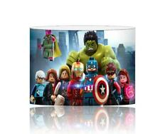 (094)  AVENGERS LEGO SUPERHEROES LIGHTSHADE / CEILING LIGHT SHADE KIDS FREE P+P