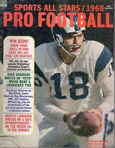 1968 Sports All Stars Pro Football magazine Roman Gabriel Los Angeles Rams FAIR