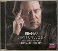 Chailly - Brahms: Symphonies 2 & 4, CD *NEW* Gewandhausorchester