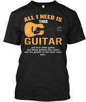 Trendy Guitarist Rock Music Guitar - All I Need Is Hanes Tagless Tee T-Shirt